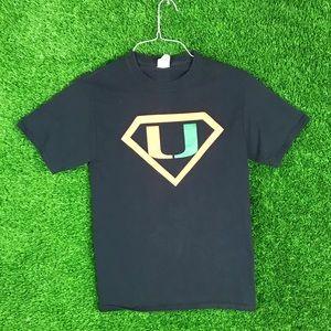 Miami Hurricane Superman Football Graphic Shirt
